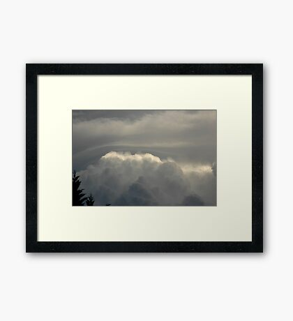 When Clouds Collide - 2 Framed Print