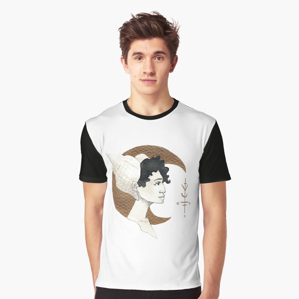 T-shirt graphique «Moon and Sea Shell»