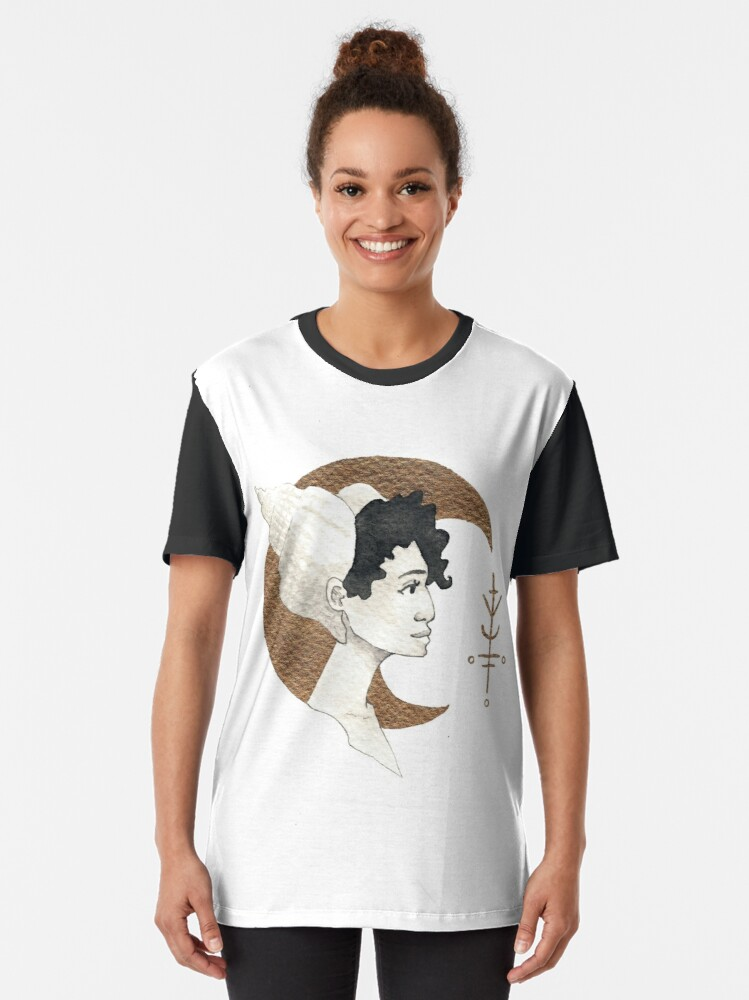 T-shirt graphique ''Moon and Sea Shell': autre vue
