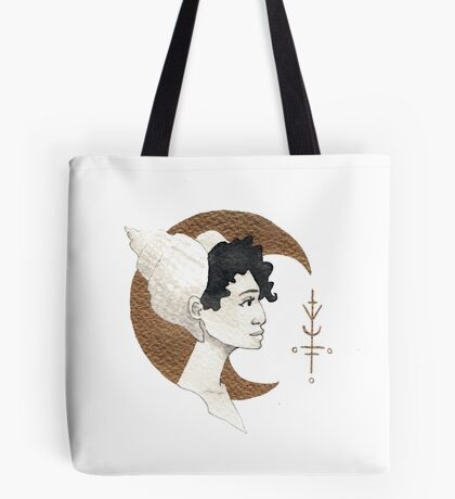 Moon and Sea Shell Tote bag