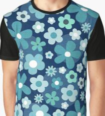 Groovy Baby - Indigo and Mint Graphic T-Shirt