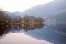 Reflection on Loch Chon, Scotland by Christine Smith