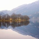 Reflection on Loch Chon, Scotland by Christine Smith