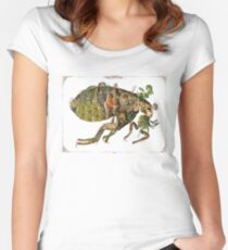 Whimsical Pop Botanical Flea #CreateArtHistory Women's Fitted Scoop T-Shirt