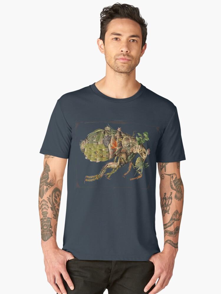 Whimsical Pop Botanical Flea #CreateArtHistory Men's Premium T-Shirt Front