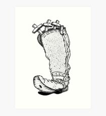 Three Get the Boot Art Print
