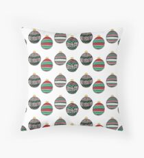 Holiday Ornaments Throw Pillow