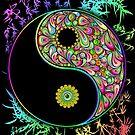 Yin Yang Bamboo Psychedelic by BluedarkArt