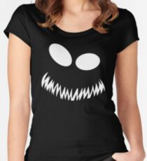 Naruto: Kyuubi/Tailed Beast Mode Face! Women's Fitted Scoop T-Shirt