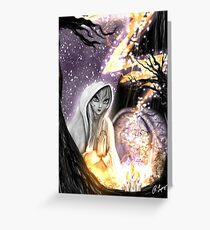 Spiritual Ghost in the Woods Greeting Card
