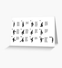 Monty Python | Silly walks | Cult tv Best of British  Greeting Card