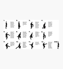 Monty Python | Silly walks | Cult tv Best of British  Photographic Print