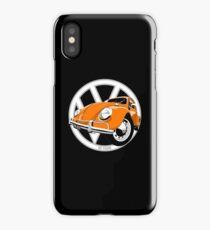 Sixties VW Beetle orange iPhone Case/Skin