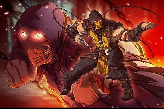 Mkx Scorpion Posters By Artstudioangel Redbubble
