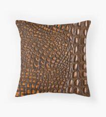Aligator Crocodile Snake skin | texture  Throw Pillow