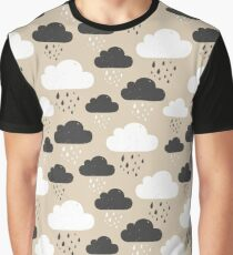 Rainy clouds black and white Graphic T-Shirt