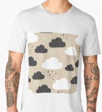 Rainy clouds black and white Men's Premium T-Shirt