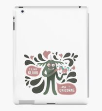 Spooky and cute vampire monster with unicorn iPad Case/Skin