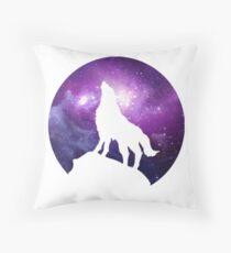 Wolf im Weltraum Bodenkissen