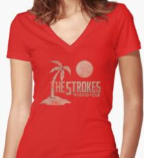 The Strokes Japan Women's Fitted V-Neck T-Shirt