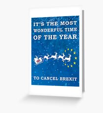 Cancel Brexit Christmas Design Greeting Card