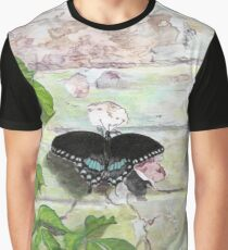 Butterfly on a wall Graphic T-Shirt