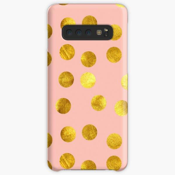 Gold and pink dots Samsung Galaxy Snap Case
