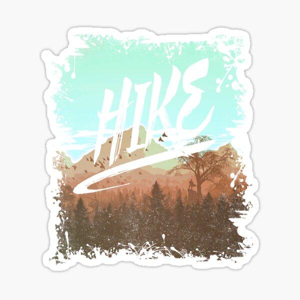 HIKE - I Love Hiking T-Shirt Sticker