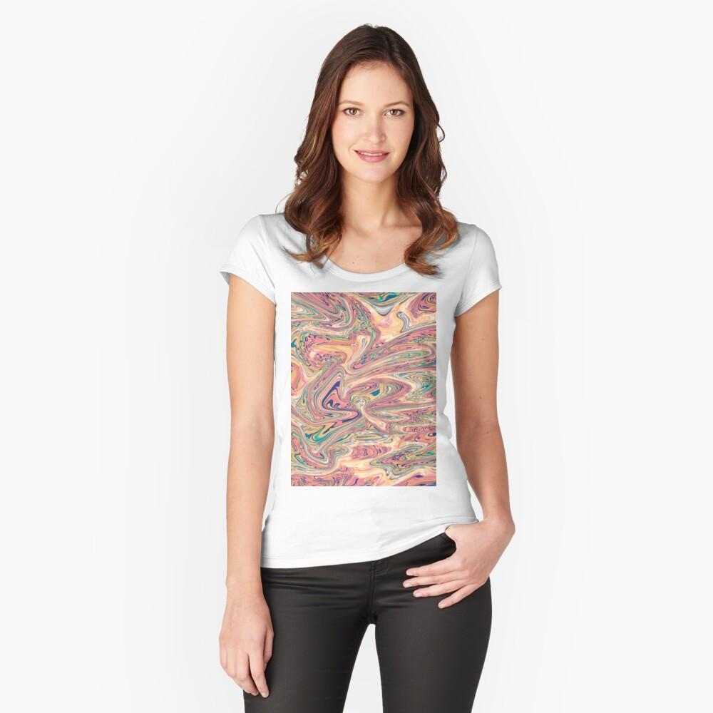 LaCroix Pamplemousse Marmor Tailliertes Rundhals-Shirt