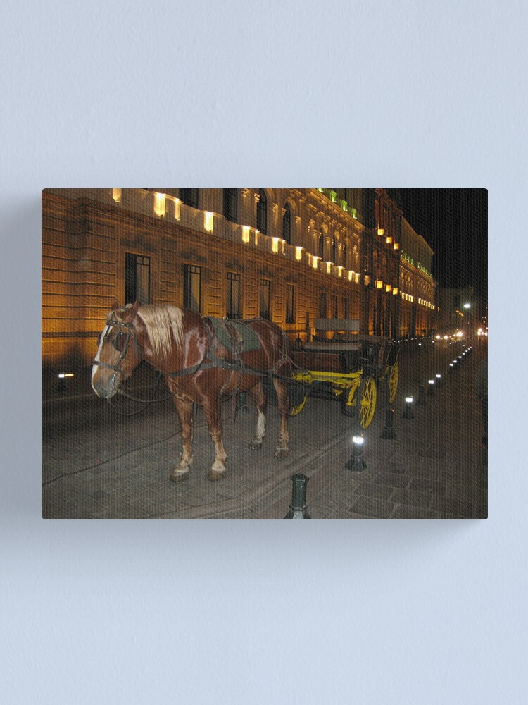 Alternate view of Horse and Buggy Canvas Print