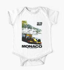 MONACO : Vintage Grand Prix Auto Racing Advertising Print Kids Clothes