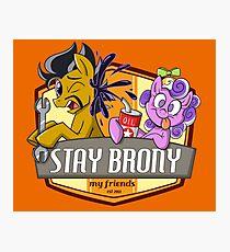 Stay Brony My Friends Garage Photographic Print