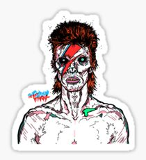 Aladdin Sane - David Bowie Infected Zombie.  Sticker