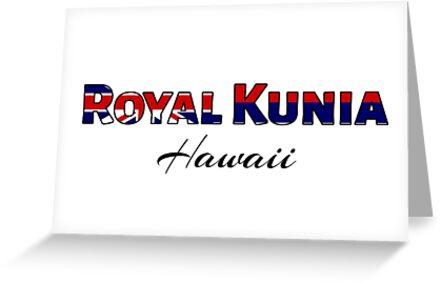 Royal kunia hawaii flag words greeting cards by artisticattitud royal kunia hawaii flag words by artisticattitud m4hsunfo