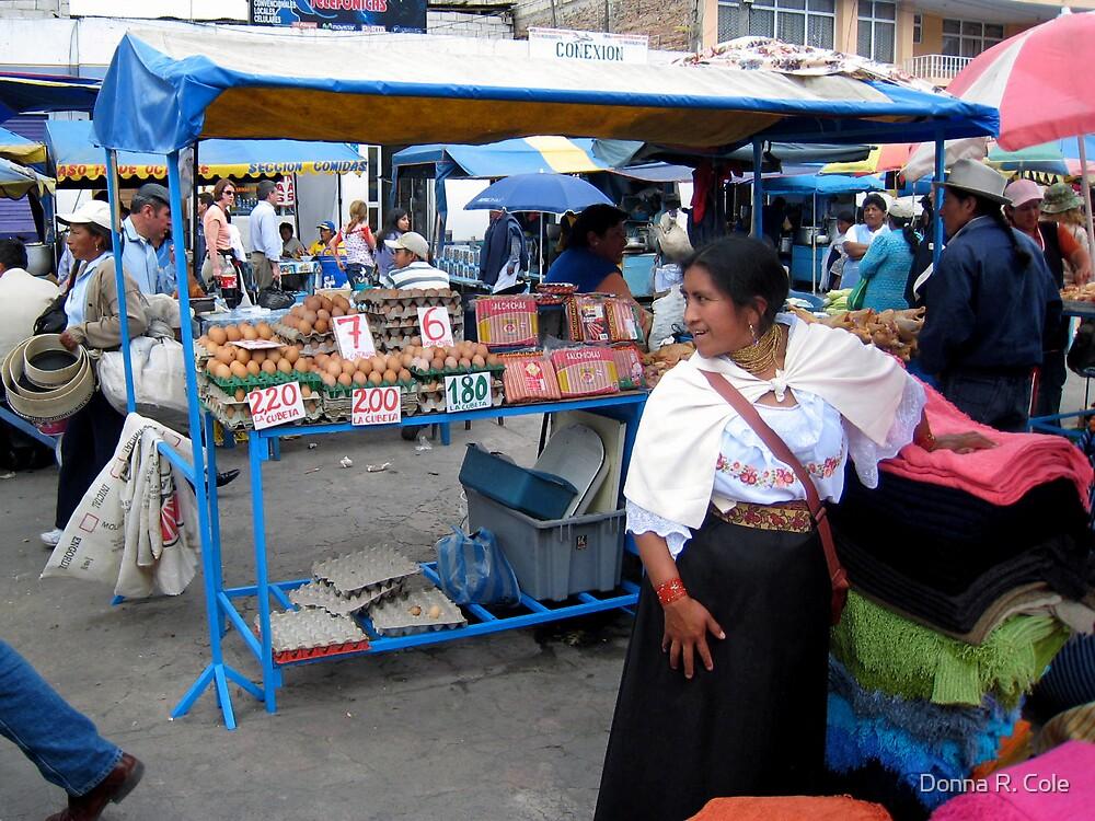 Otavalan Textile Vendor by Donna R. Cole