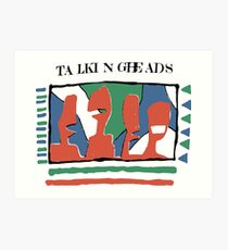 Talking Heads - Gelb 80 & nbsp; s Kunstdruck