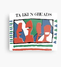 Talking Heads - Gelb 80 & nbsp; s Metalldruck
