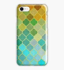 Yellow and green mosaic iPhone Case/Skin