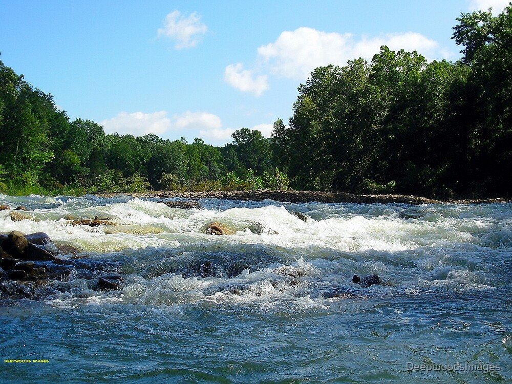 White rapids,Blue water by DeepwoodsImages
