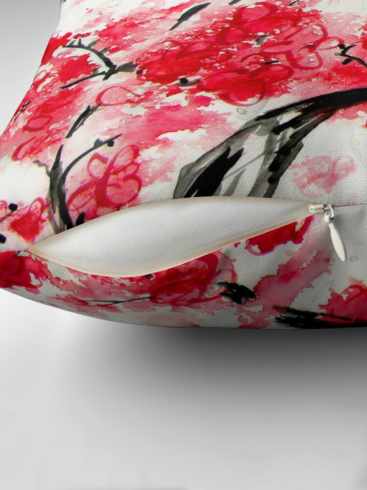 Alternate view of Cherry Blossoms Throw Pillow