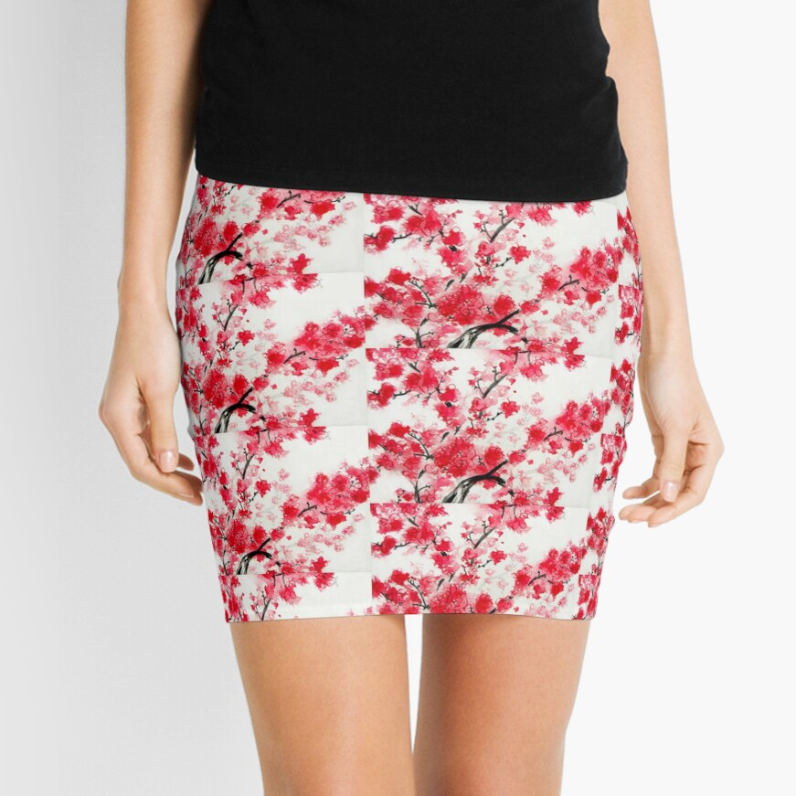 Cherry Blossoms Mini Skirt