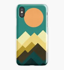 Geometric landscape iPhone Case/Skin