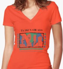 Talking Heads - Yellow 80's Women's Fitted V-Neck T-Shirt
