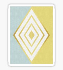 Golden Lozenge Sticker