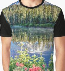 Rainier Wildflowers at Reflection Lake Graphic T-Shirt