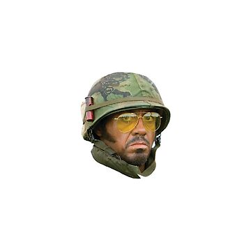 Kirk Lazarus - Head (Tropic Thunder) by wyattmiller