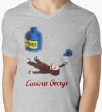 Curious George Breathes in Ether V-Neck T-Shirt