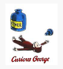 Lámina fotográfica El curioso George respira en el éter