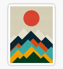 Geometric landscape Sticker