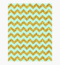 Chevron golden Photographic Print